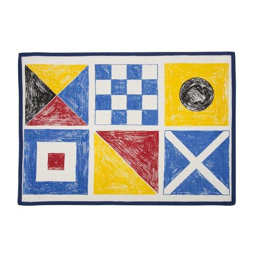 Flags Sketch Tea Towel