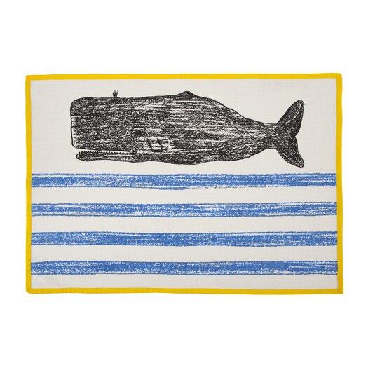 Whale Sketch Tea Towel
