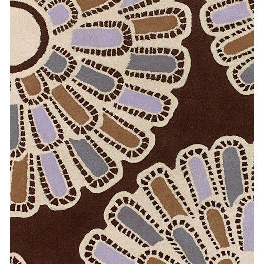 Thomas Paul Tufted Pile Chocolate/Lilac Flora Rug