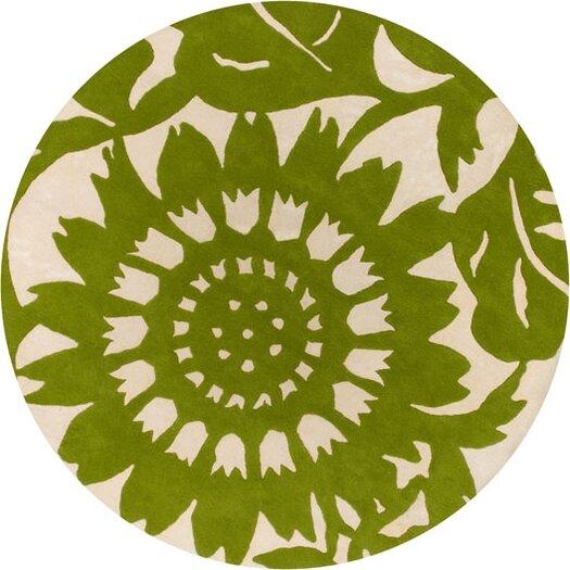 Thomas Paul Tufted Pile Grass/Cream Zinnia Rug