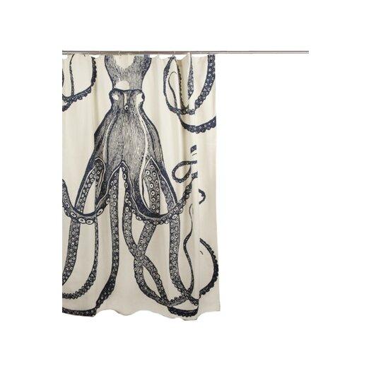Bath Cotton Octopus Shower Curtain by Thomas Paul