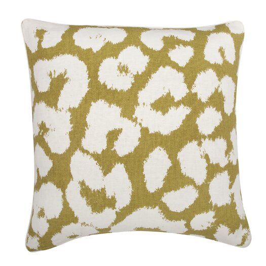 Thomas Paul Fragments Leopard Cotton Throw Pillow