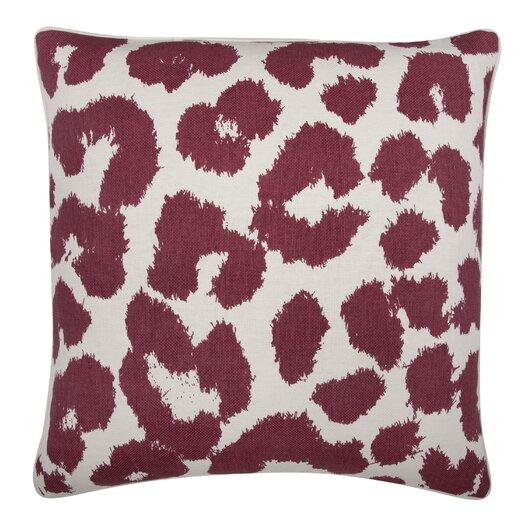 Thomas Paul Fragments Leopard Cotton Throw Pillow