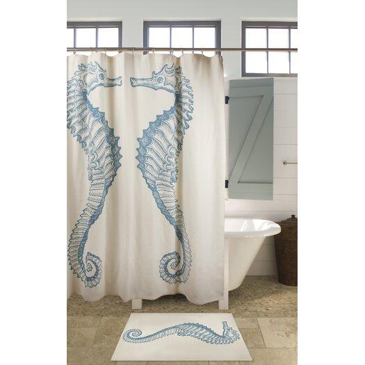 Thomas Paul Seahorse Cotton Shower Curtain