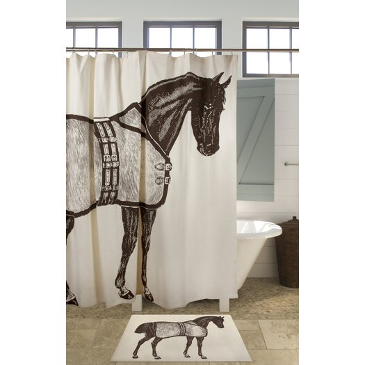 Thomas Paul Thoroughbred Cotton Shower Curtain