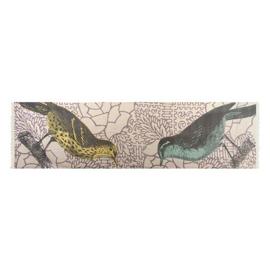 Birds Wool Scarf