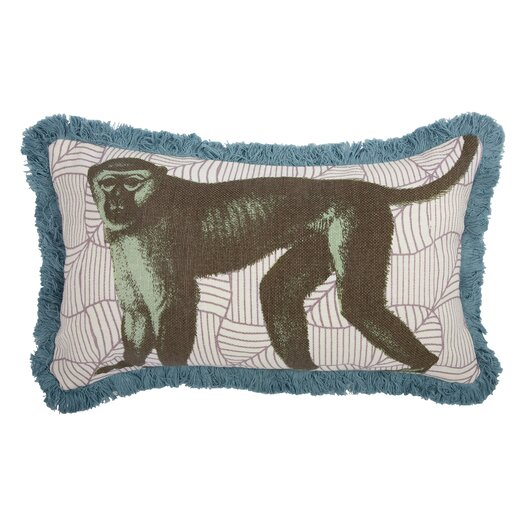 Thomas Paul Menagerie Monkey Cotton Lumbar Pillow Allmodern