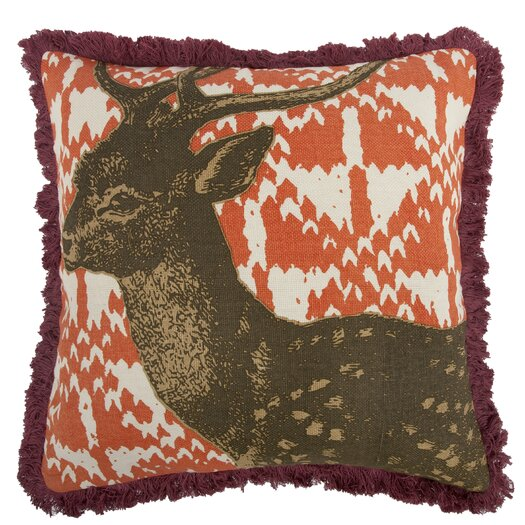 Thomas Paul Menagerie Deer Cotton Throw Pillow
