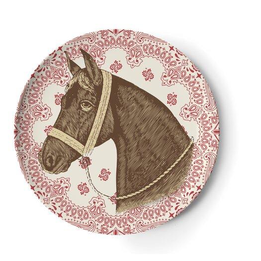 "Thomas Paul Ranchero 9"" Melamine Side Salad Plate 4 Piece Set"