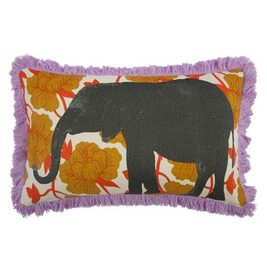 Elephant 12x20 Linen Lumbar Pillow