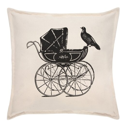 "Thomas Paul Pram 18"" Pigeon Cotton Throw Pillow"