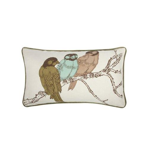 Thomas Paul Yoko Birds 12x20 Cotton Lumbar Pillow