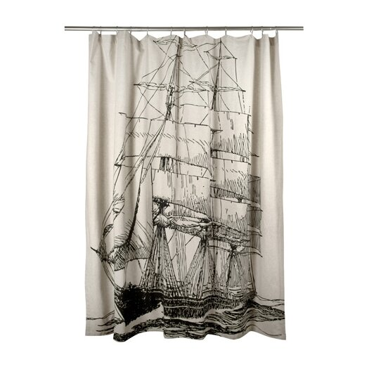 Thomas Paul Ship Flax Shower Curtain