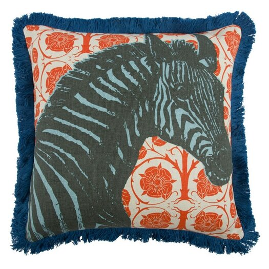 "Thomas Paul Zebra 18"" Linen Throw Pillow"