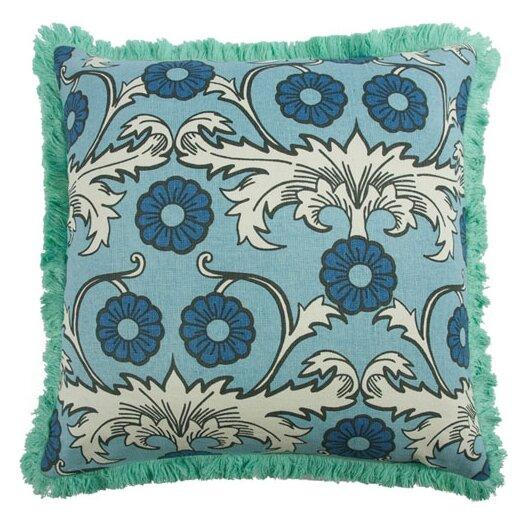 "Thomas Paul Scroll 22"" Linen Throw Pillow"