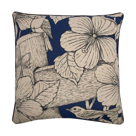 """Thomas Paul Hibiscus 22"""" Cotton Throw Pillow"""