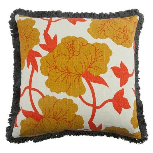 Roses Linen Throw Pillow