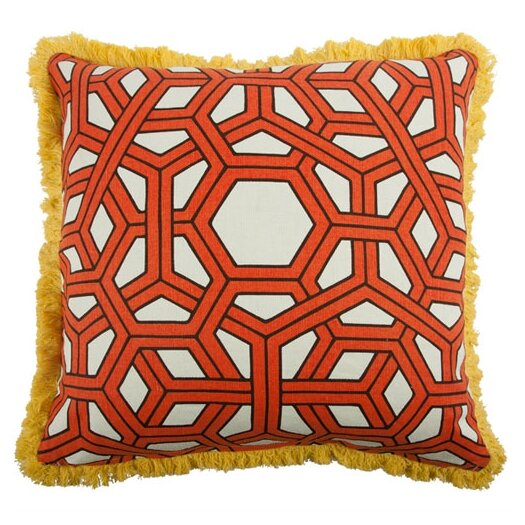 "Thomas Paul 22"" Hexagon Linen Throw Pillow"