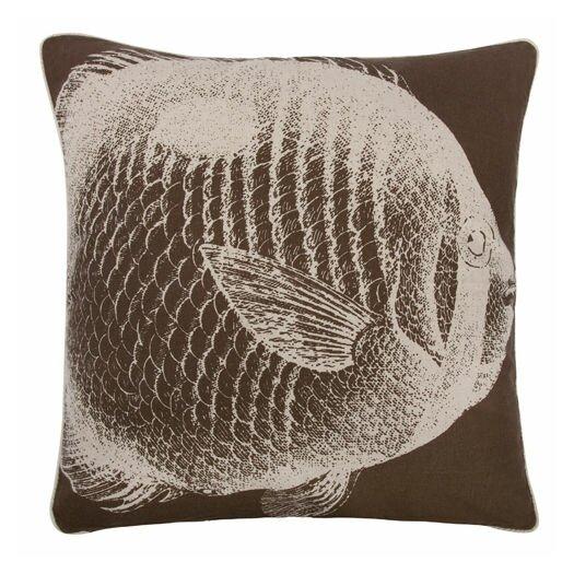"""Thomas Paul Fish 22"""" Linen Throw Pillow"""