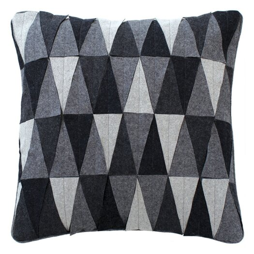 Triangle Mix Wool Throw Pillow