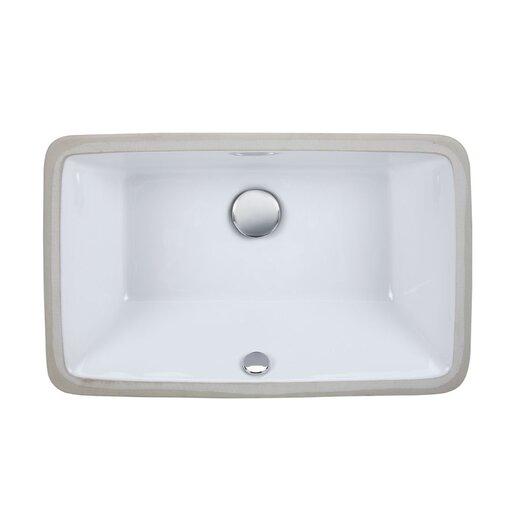 Ryvyr Undermount Rectangular Vitreous China Bathroom Sink