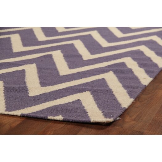 Rug expressions flat weave plum white area rug allmodern for Plum and cream rug