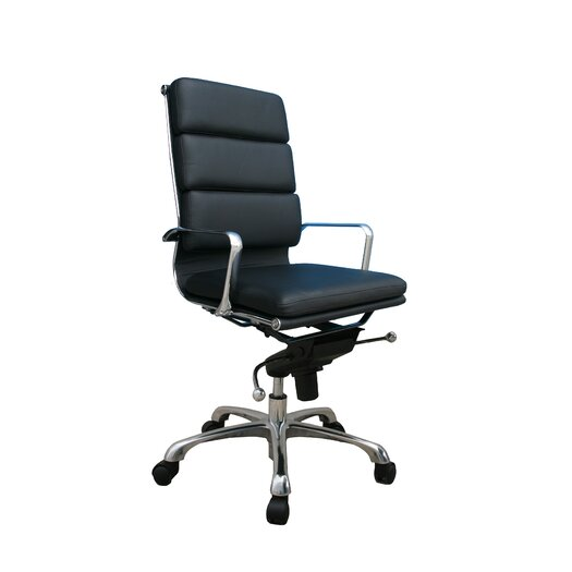 Plush High Back Leather Office Chair