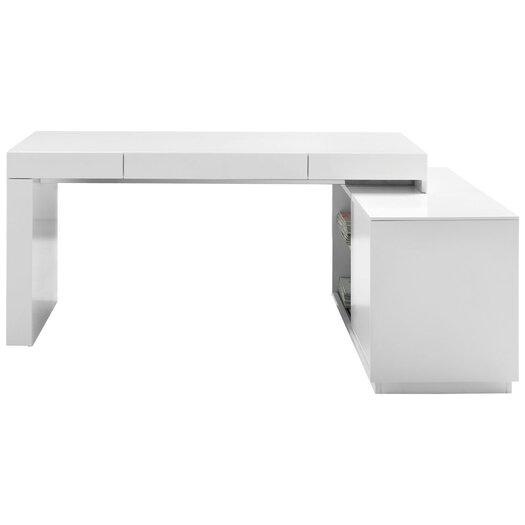 J m furniture modern office desk with hutch allmodern for All modern furniture