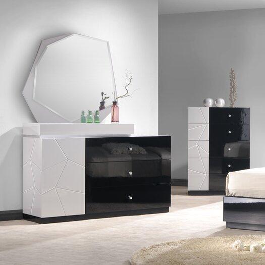 Turin 3 Drawer Dresser with Mirror
