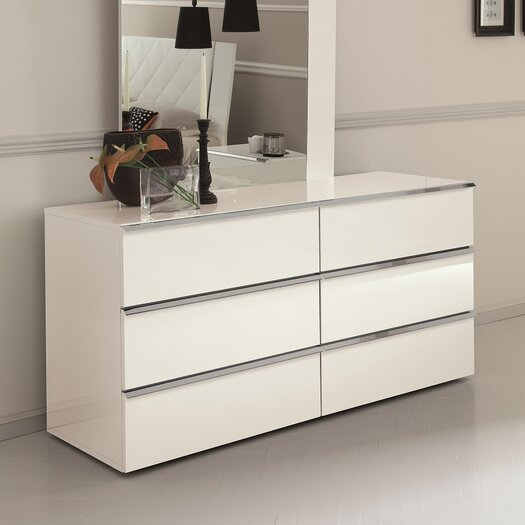 Stella 6 Drawer Dresser with Mirror