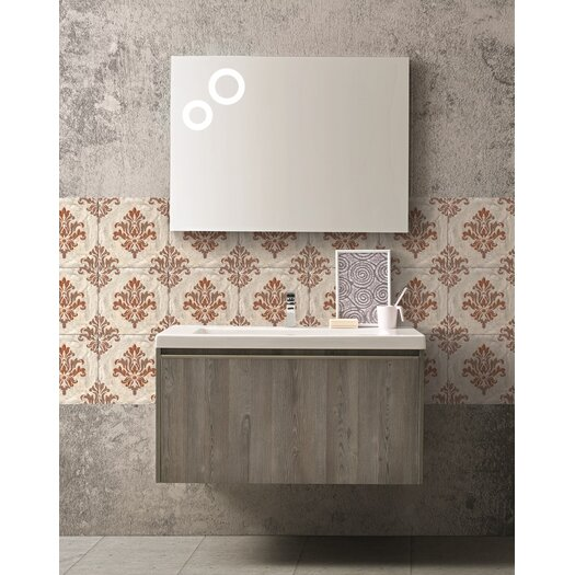 Single Composition 18 Premium Bathroom Vanity Set with Mirror