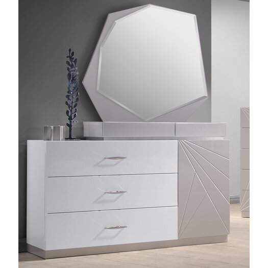 Florence 3 Drawer Dresser with Mirror