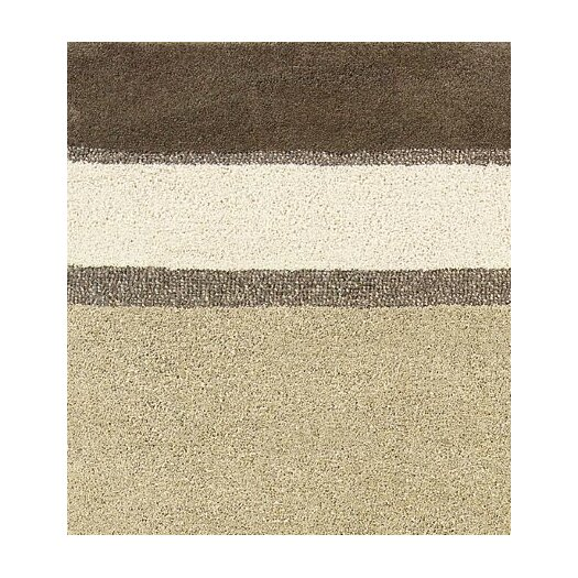 Couristan Super Indo-Natural Retro Linen Beige Stripe Area Rug