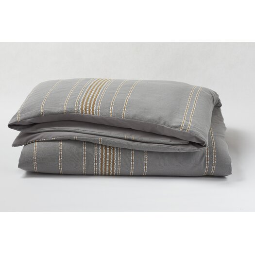 Coyuchi Rippled Stripe Duvet Cover