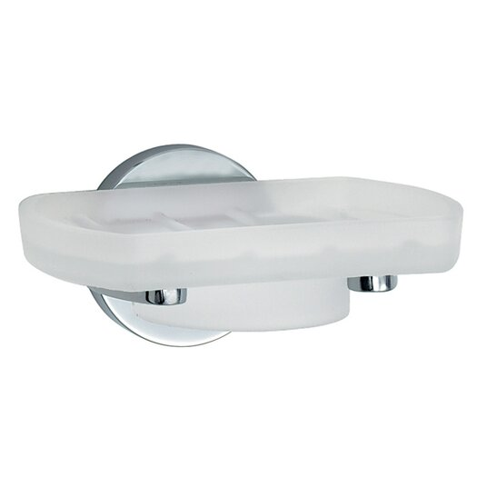 Smedbo Loft Holder with Frosted Glass Soap Dish