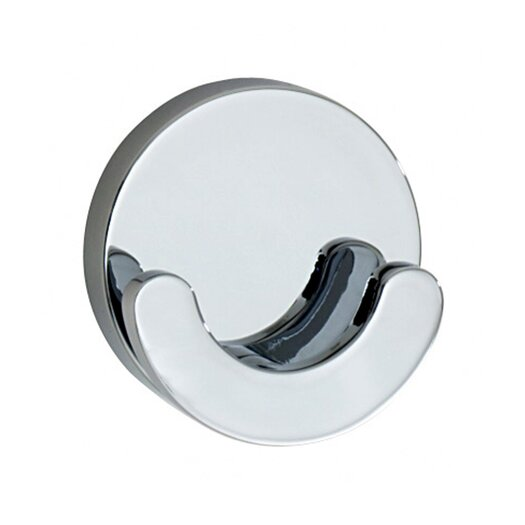 Smedbo Loft Wall Mounted Crescent-Shaped Double Towel Hook