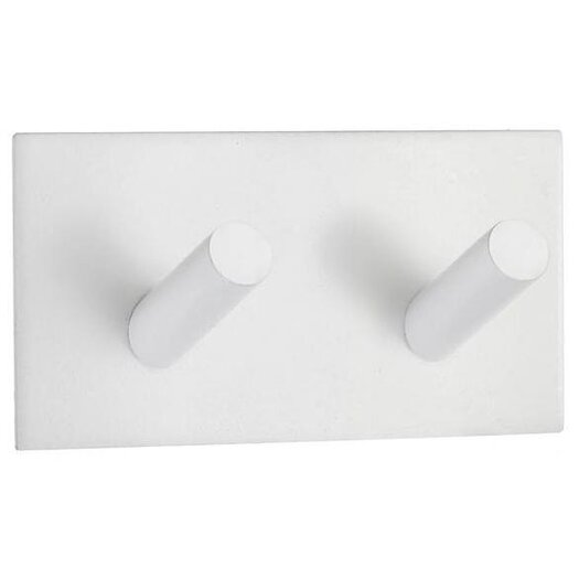 Smedbo Beslagsboden Square Design Double Wall Mounted Hook