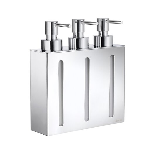 Smedbo Outline Three Container Soap and Lotion Dispenser