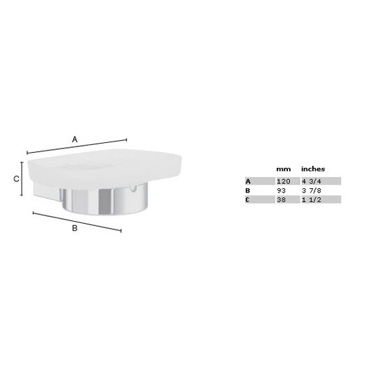 Smedbo Air Frosted Glass Soap Dish Holder
