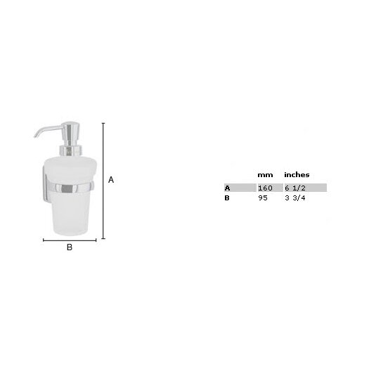 Smedbo Cabin Wall Mount Soap Dispenser