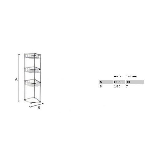 Smedbo Sideline 3 Level Corner Soap Basket