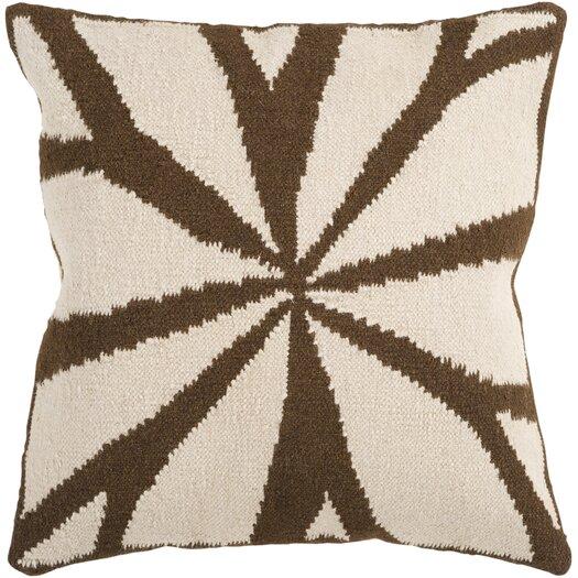 Surya Lush Leaf Throw Pillow