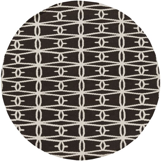 Surya Fallon Black/Cream Area Rug