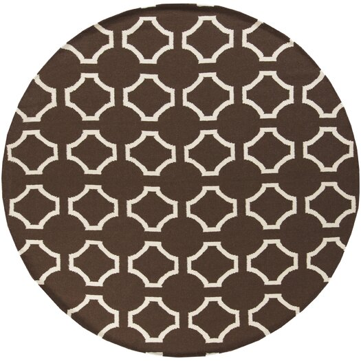 Surya Fallon Dark Chocolate/Cream Area Rug