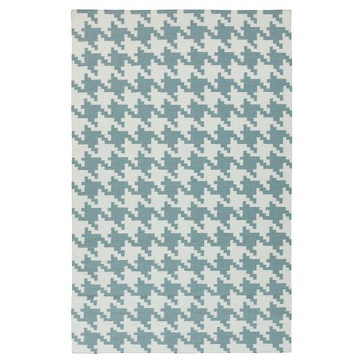 Surya Frontier Ivory & Blue Accent Rug