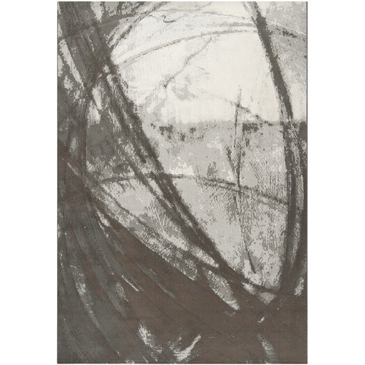 Surya Contempo Gray Swirls Art Work Rug