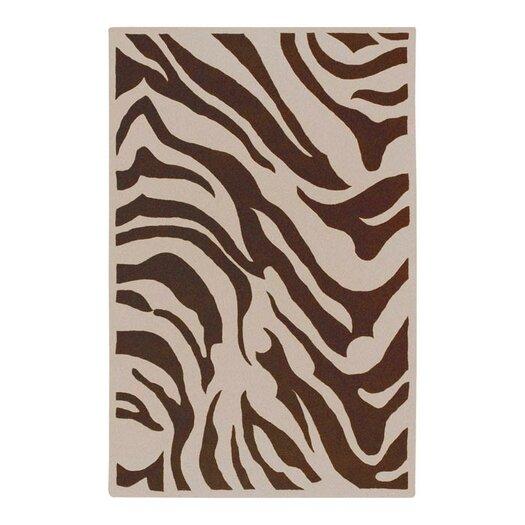 Surya Goa Zebra Print Area Rug