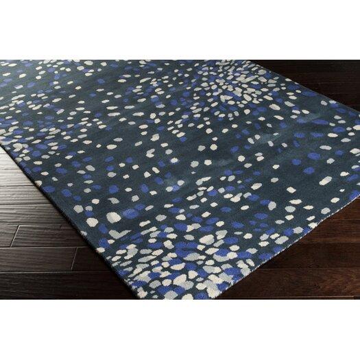 Surya Splatter Bloom Marine Blue Area Rug