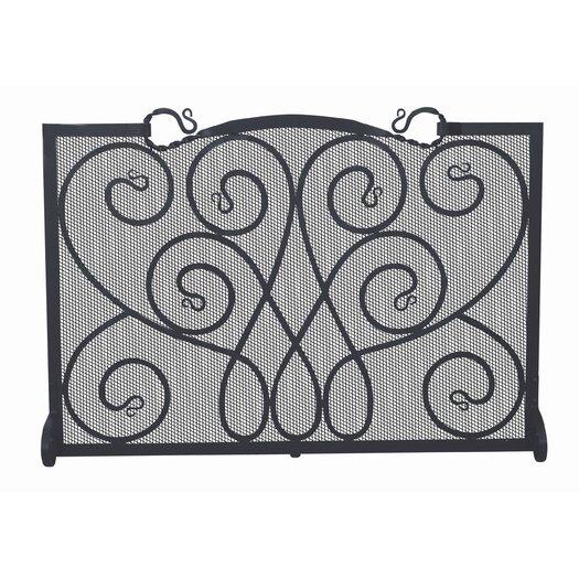 Uniflame Corporation Single Panel Ornate Wrought Iron Fireplace Screen