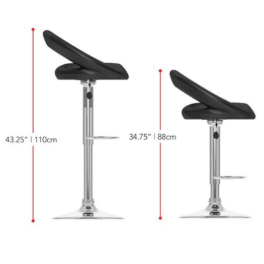 dCOR design CorLiving Adjustable Height Swivel Bar Stool with Cushion